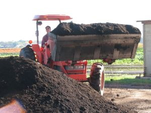 Moving compost