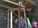Paul with his chain driven hoist, makes the welding far easier.